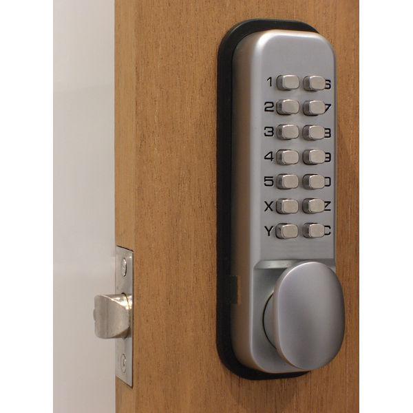 Lockit Chrome Mechanical Push Button Digital Lock - DXLOCKITHB/C