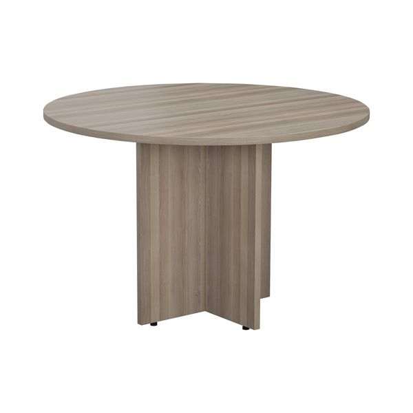 Jemini 1200mm Grey Oak Round Meeting Table