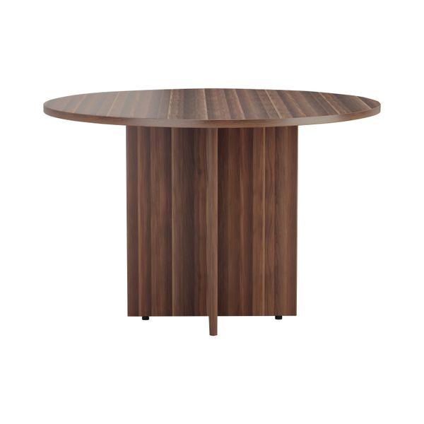 Jemini 1200mm Walnut Round Meeting Table