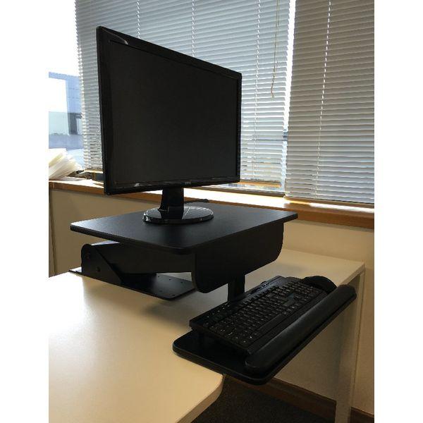 Contour Ergonomics Black Sit and Stand Workstation – CE77691