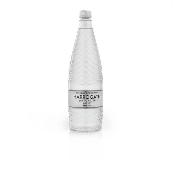 Harrogate 750ml Sparkling Spring Water Glass Bottles, Pack of 12 | G75012 2C