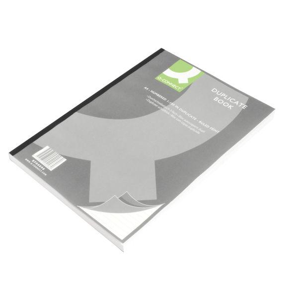 Q-Connect A4 Ruled Feint Duplicate Book - KF04096