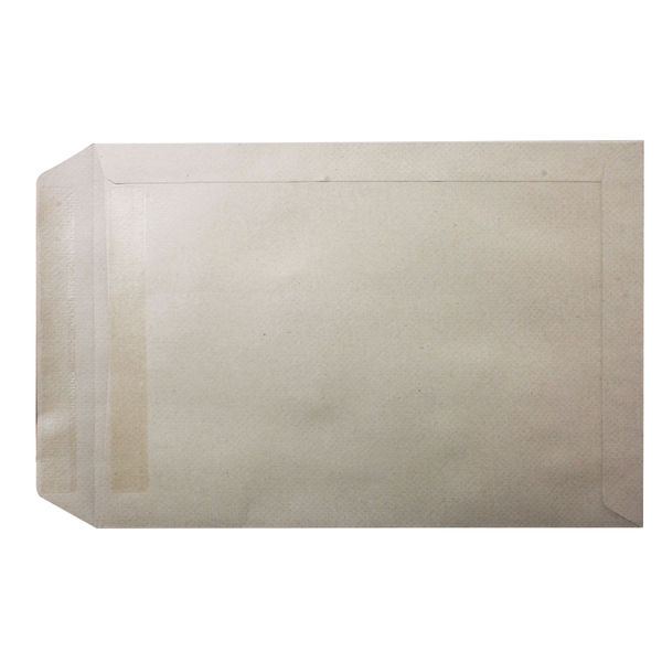 Q-Connect Manilla C4 Plain Self Seal Envelopes 115gsm, Pack of 250 - 3461