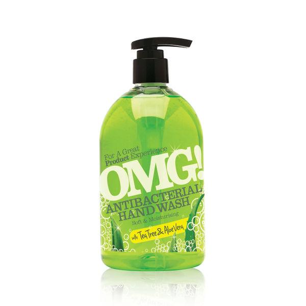 OMG! 500ml Tea Tree/Aloe Vera Antibacterial Hand Soaps, Pack of 6 - 0604399