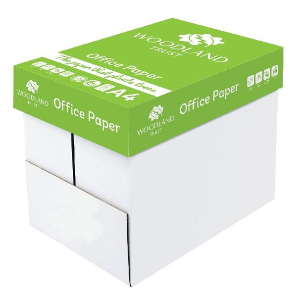 Woodland Trust A4 Office Paper 75gsm (Pack of 2500) WTOA4