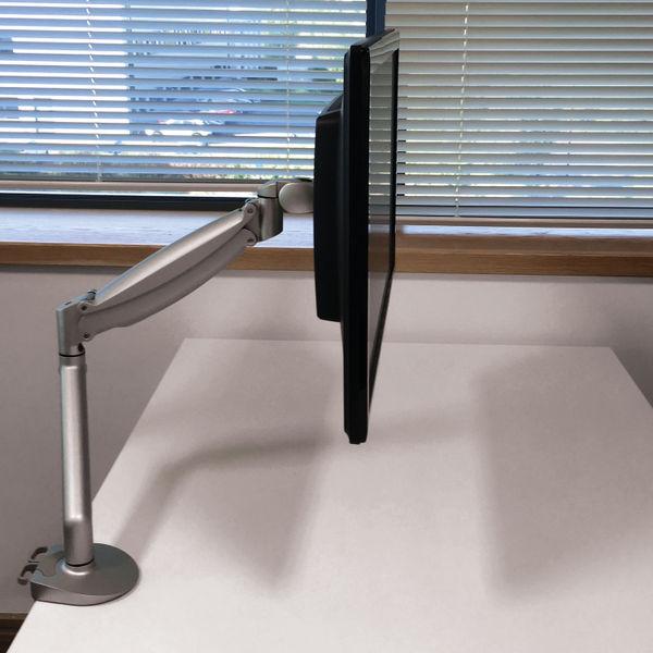 Contour Ergonomics Easy Move Single Monitor Arm Silver CE77692