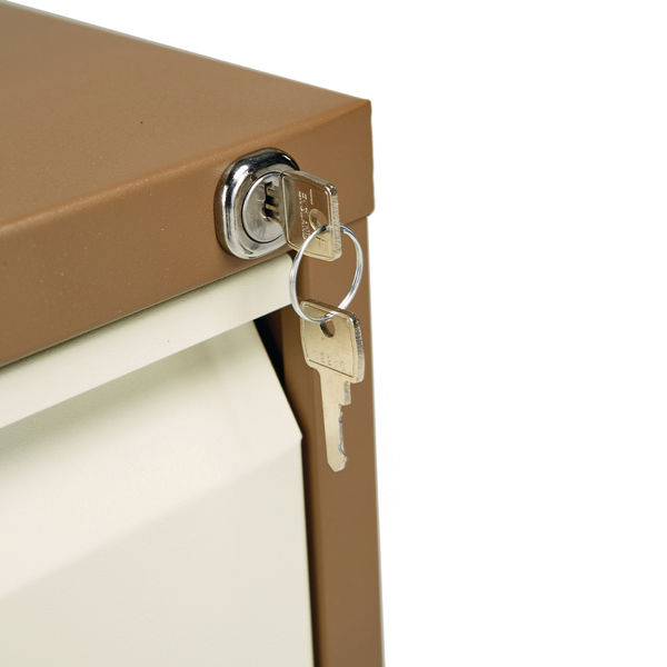 Jemini 711mm Coffee/Cream 2 Drawer Filing Cabinet