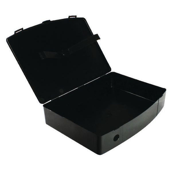 Q-Connect Black Foolscap Polypropylene Box File - KF04102