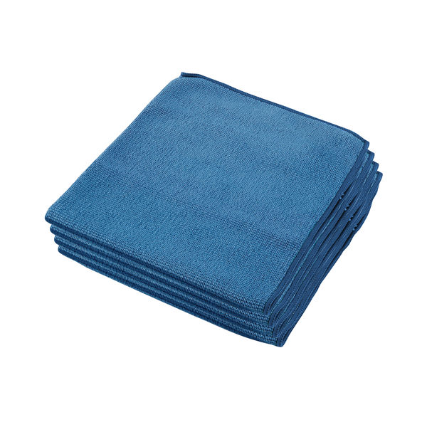 Wypall Blue Microfibre Cloths, Pack of 6 - 8395