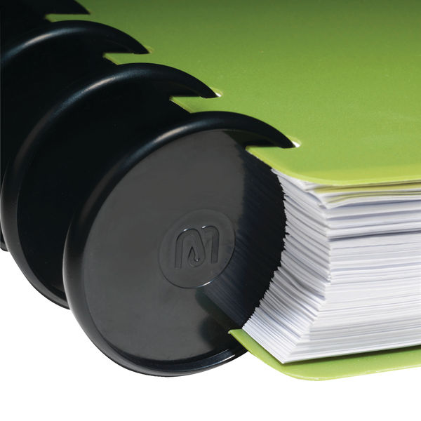 M By Staples ARC Notebook 25mm Black (Pack of 12) 8851095