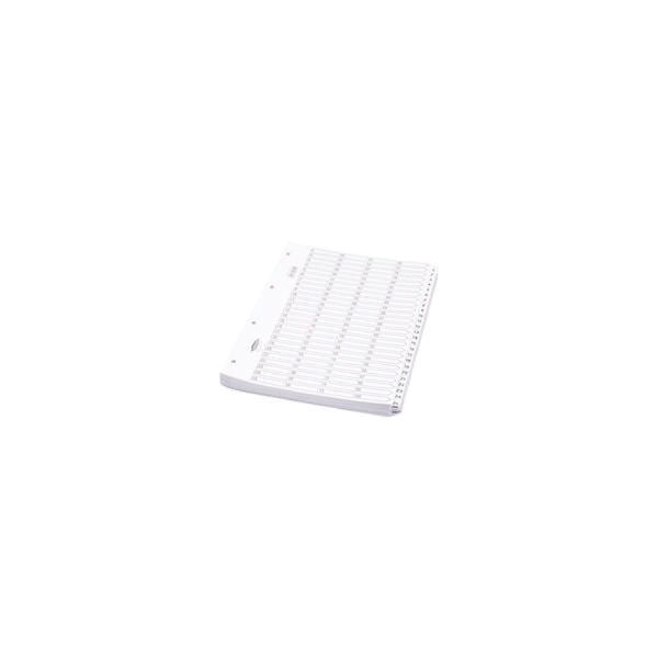 Q-Connect White A4 1-50 Multi-Punched Numbered Index Dividers - 05501/CS55 1-50