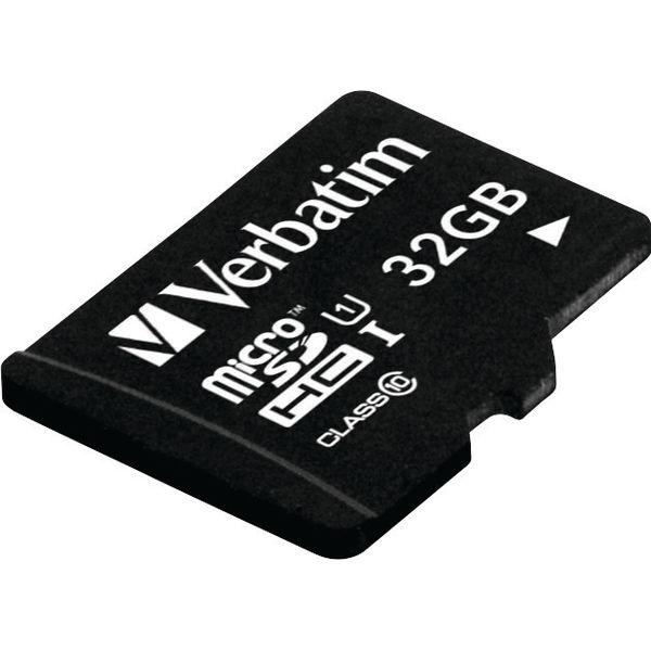 Verbatim 32GB Table U1 microSDHC Card with USB Reader - 44059