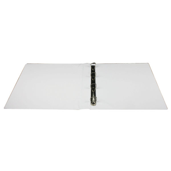 Q-Connect White A4 16mm 4 D-Ring Presentation Binder - KF01324Q