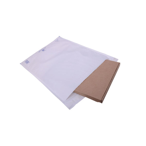 Ampac Envelopes 340x445mm Extra Strong Polythene Padded Bubble Lined White (Pack of 50) KSB-5