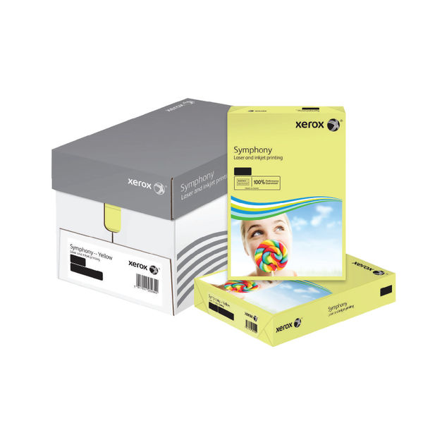 Xerox Symphony Pastel Yellow A3 Paper, 80gsm - 500 Sheets - 62879