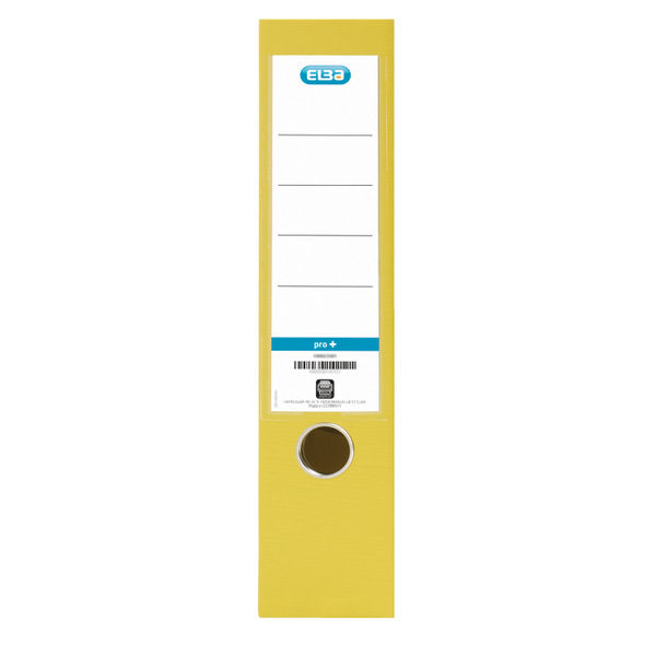 Elba PVC Yellow A4 Lever Arch File 70mm - 1450-06