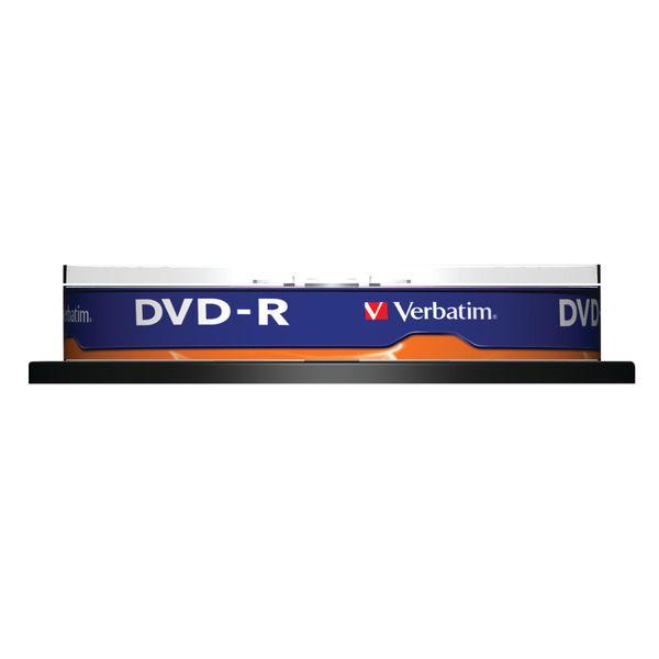 Verbatim 4.7GB 16x Speed DVD-R Spindle, Pack of 10 | 43523