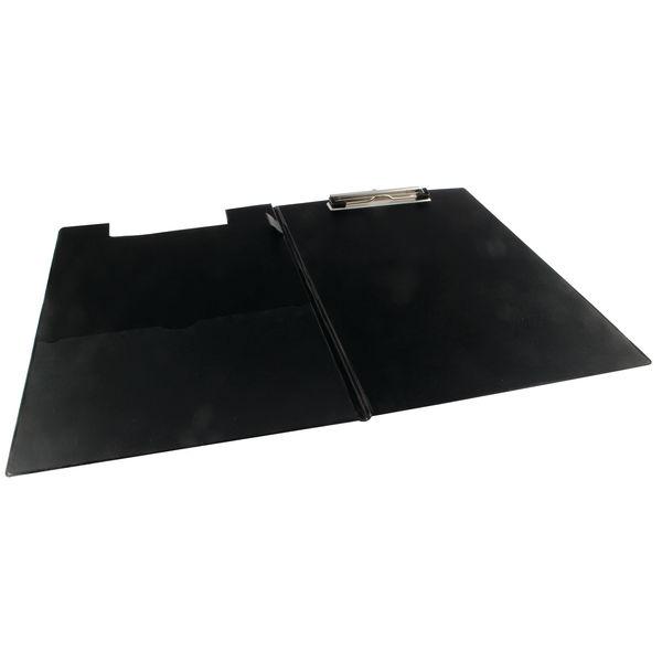Rapesco Black A4/Foolscap PVC Foldover Clipboard - VFDCB0B3