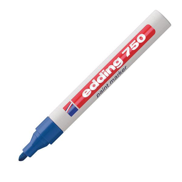edding 750 Blue Medium Paint Markers, Pack of 10 - 750-003