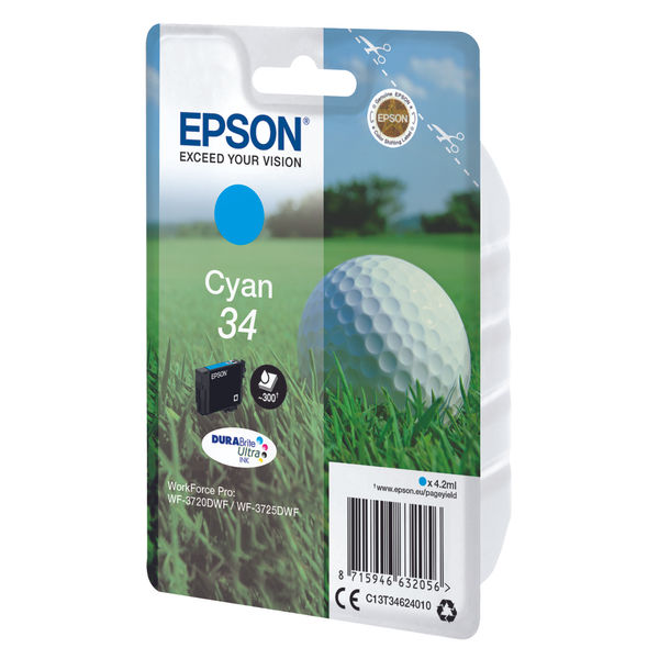 Epson 34 Cyan Ink Cartridge - C13T34624010