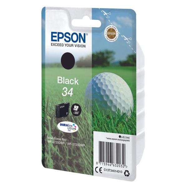 Epson 34 Black Ink Cartridge - C13T34614010