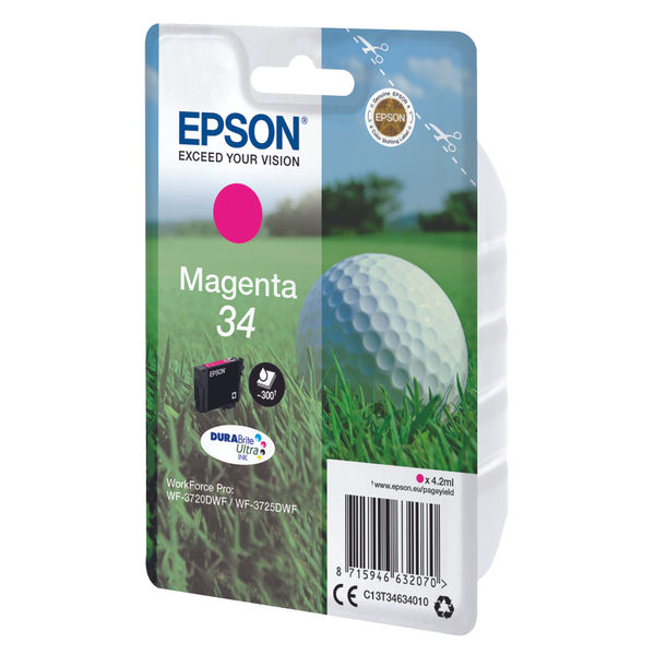 Epson 34 Magenta Ink Cartridge - C13T34634010