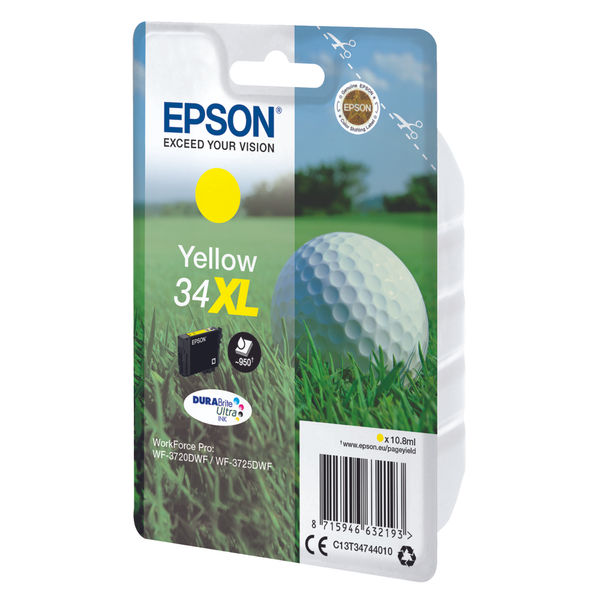 Epson 34XL High Capacity Yellow Ink Cartridge - C13T34744010