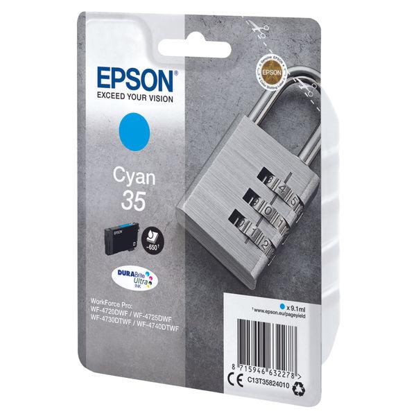 Epson 35 Cyan Ink Cartridge - C13T35824010