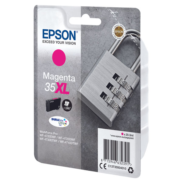 Epson 35XL High Capacity Magenta Ink Cartridge - C13T35934010
