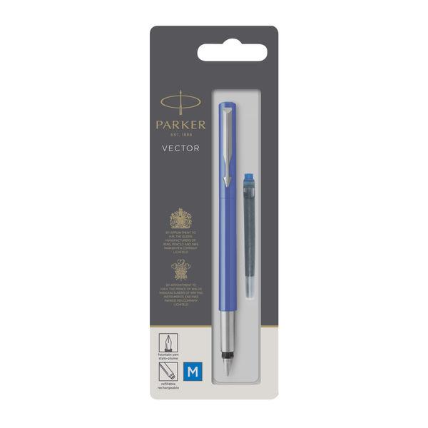 Parker Vector Blue Barrel Fountain Pen - 446.821.4041