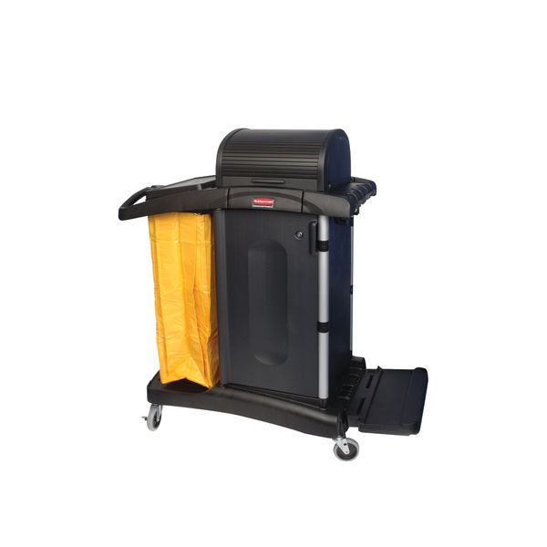 Rubbermaid Secure Microfibre Cart With Hood Black R052002