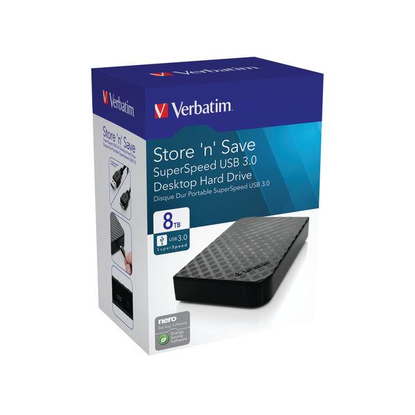 Verbatim Store n Save Desktop HDD USB 3.0 8TB 47687