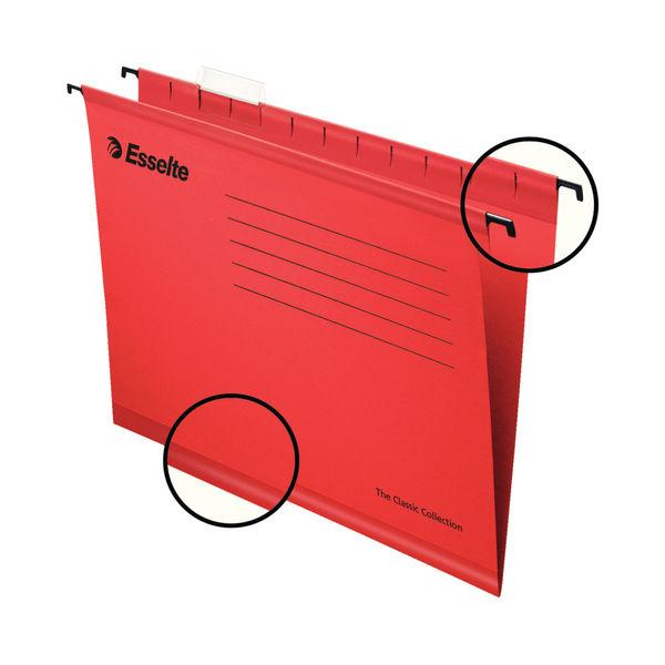 Esselte Classic Foolscap Red Suspension File (Pack of 25) 90336