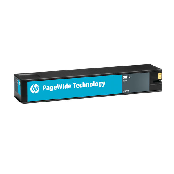 HP 981 XL PageWide Cyan Ink Cartridge - High Capacity L0R09A