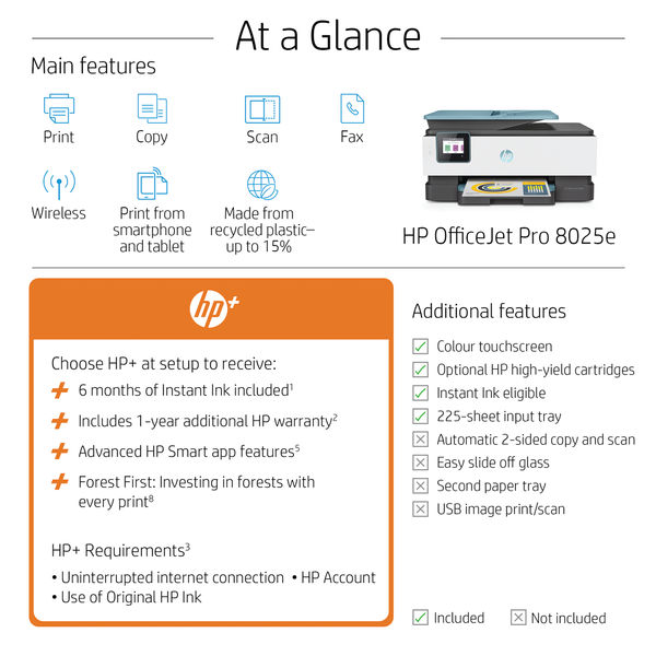 HP OfficeJet Pro 8025e All-in-One Colour Printer