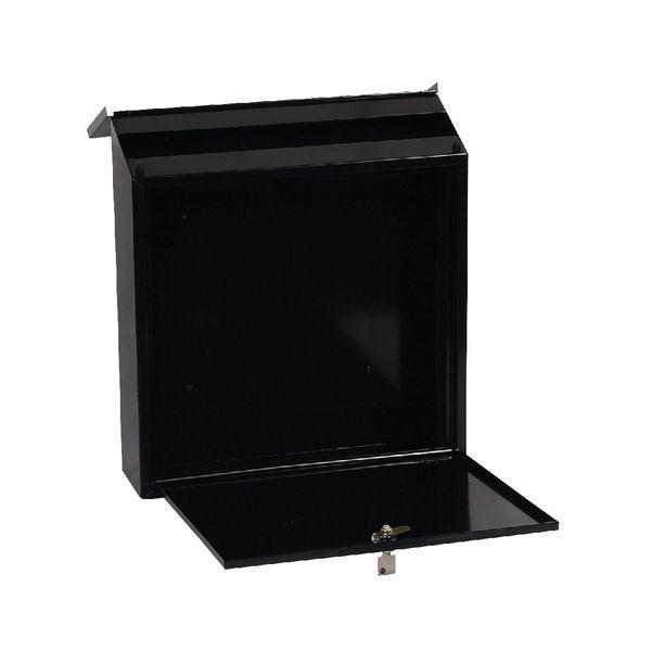 Phoenix Casa Top Loading Mail Box Black (Weatherproof, corrosion and rust resistant) MB0111KB