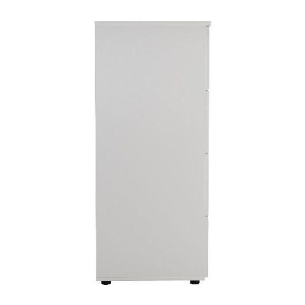 Jemini 1365mm White 4 Drawer Filing Cabinet
