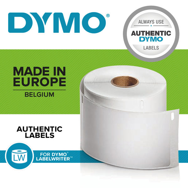 Dymo 28 x 89mm Black on White LabelWriter Address Labels, Pack of 260 - S0722370