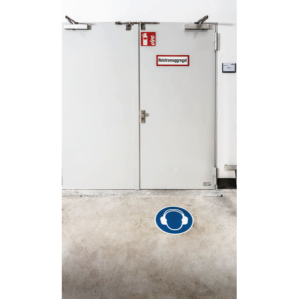Durable 430mm Use Ear Protection Floor Sign - 172906