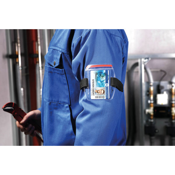 Durable Security ID Armband Badge Holder Transparent (Pack of 10) 8414