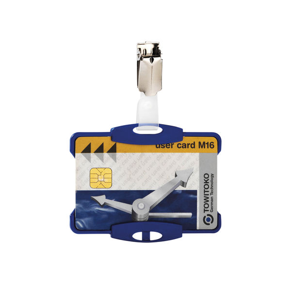 Durable Security Pass Holder [Pack of 25] Blue DB90942