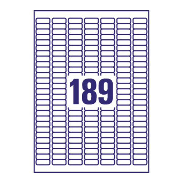 Avery Inkjet Mini Labels 189 Per Sheet White (Pack of 4725) J8658-25
