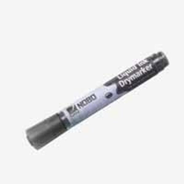 Nobo Black Bullet Tip Liquid Ink Drywipe Markers, Pack of 12 - 1901073