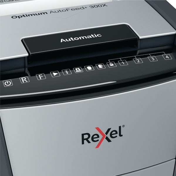 Rexel Optimum AutoFeed+ 300X Cross Cut Shredder - 2020300X