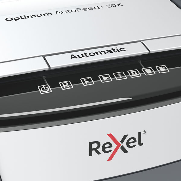 Rexel Optimum AutoFeed+ 50X Cross Cut Shredder | 202050X