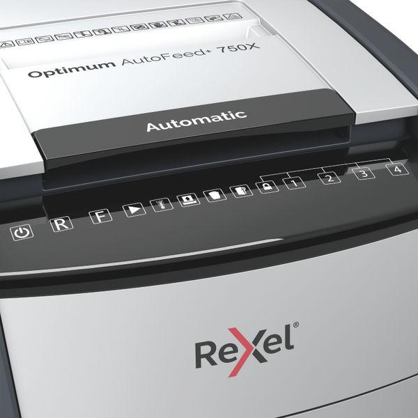 Rexel Optimum AutoFeed+ 750X Cross Cut Shredder - 2020750X