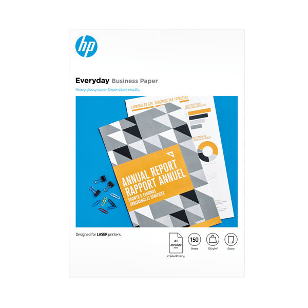 HP Everyday A3 White 120 gsm Glossy Paper (Pack of 150) - 7MV81A