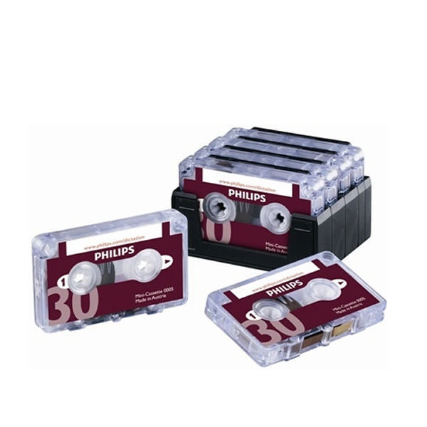 Phillips 30 Minute Mini Dictation Cassettes, Pack of 10 - PH0005