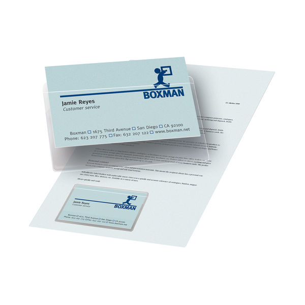 Pelltech SA Business Card Pocket 95x60 [100 Pack] PLH10141