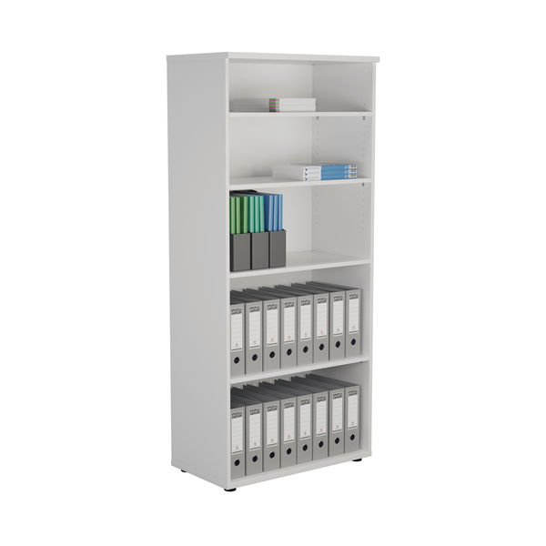 First 1800mm White Wooden Bookcase
